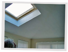 Plastered Roof and Sky Light