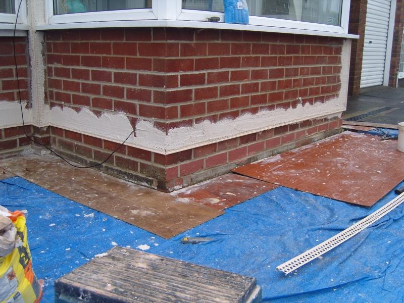 Brick Effect & Coloured Render - Artisan Plastering